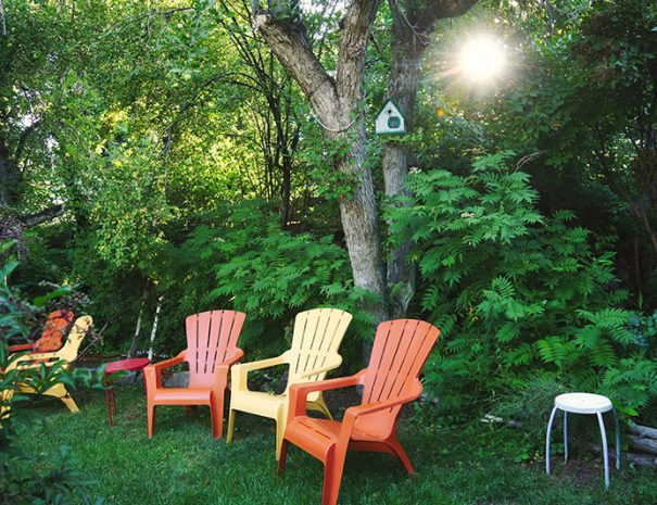 chairs in garden and painted hills resort